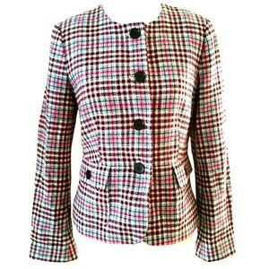 NWT TALBOTS PLAID BLAZER JACKET SZ 6